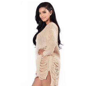 ad03e1adb2 Fashion Nova Dresses - Fashion Nova Unraveled Sweater Dress